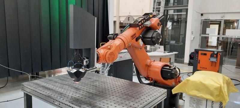 Meltio Engine integrations with a KUKA robot at the Universidade de Coimbra. Get the full control over your printing process!